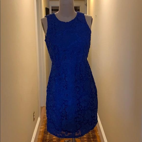 J. Crew Dresses & Skirts - J Crew Bright Blue Dress 🦋